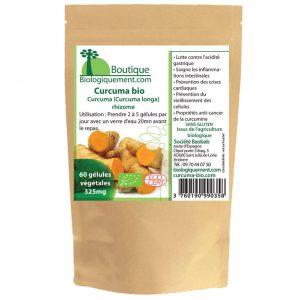 Acheter du curcuma bio en gélules sur la boutique Biologiquement.com
